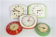 Sale 8396 - Lot 80 - Hammond Wall Clock with Others incl Timex