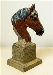 Sale 8420A - Lot 95 - A decorative horse head, composition: resin, condition: new, measurements: 23cm high