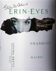 Sale 8494W - Lot 81 - 12 x 2016 Steve Wiblin's Erin Eyes 'Shamrock' Malbec – New Release, Clare Valley
