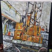 Sale 8587 - Lot 2064 - Michael Neal - Industrial Scene, oil on canvas (AF), 55 x 48.5cm, signed lower right