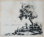 Sale 8675A - Lot 5068 - Vincent Sheldon (1895 - 1945) - Auf Wierdershehn, 1932 16.5 x 20cm