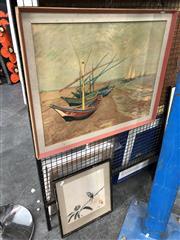 Sale 8789 - Lot 2104 - Van Gogh - Fishing Boats at Saintes-Maries, Print, 45x57cm