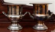 Sale 8882H - Lot 7 - Two similar silver plate champagne buckets of classical form, Height 26cm