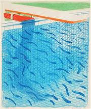 Sale 8916 - Lot 559 - David Hockney (1937 - ) - Pool Made with Paper and Blue Ink for Book, from Paper Pools, 1980 26 x 23.5 cm