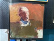 Sale 8927 - Lot 2003 - Joan Savo - Abstract Portrait, oil on canvas (paint loss)