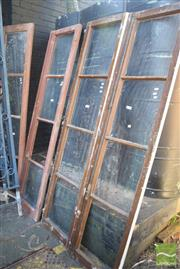 Sale 8390 - Lot 1378 - 2 Pairs of Large Glass Panel Doors
