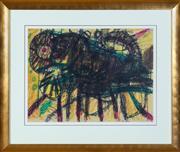 Sale 8550H - Lot 13 - John Olsen - Cat, 1969 55 x 74cm