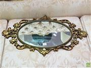 Sale 8580 - Lot 1005 - Carved Gilt Framed Mirror (H: 66cm)
