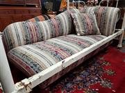 Sale 8700 - Lot 1024 - Upholstered Open Ended Settee