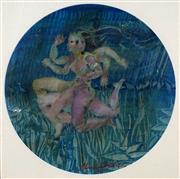 Sale 8738 - Lot 501 - Charles Billich (1934 - ) - Untitled (Moving Figure), 1971 34 x 34cm