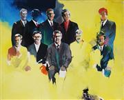 Sale 8838A - Lot 5022 - Ian Smith (1950 - ) - Group Sitting, 1972 123 x 151cm