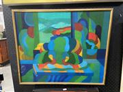 Sale 8927 - Lot 2002 - Jeremy Gordon (1947 - ) - Still Life with Window, oil on canvas, 50 x 60cm, signed and dated