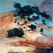 Sale 9021 - Lot 510 - Cheryl Cusick - Over the Hill 92 x 92 cm (total: 92 x 92 x 3 cm)