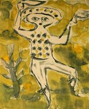 Sale 9001 - Lot 583 - Guy Warren (1921 - ) - Dancing Figure, 1959 30 x 24 cm (frame: 37 x 31 x 2cm)
