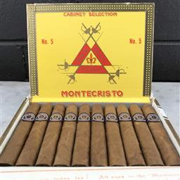 Sale 9142W - Lot 1066 - Montecristo No.5 Cuban Cigars - box of 10, stamped September 2015