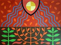 Sale 9091A - Lot 5010 - John Coburn (1925 - 2006) - The Third Day: God Created the Earth, 1977 55.5 x 75 cm