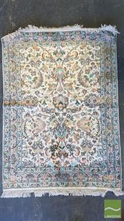 Sale 8390 - Lot 1083 - Kashmiri Silk Rug (122 x 80cm)