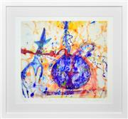 Sale 8408 - Lot 535 - John Olsen (1928 - ) - Squid with Ink 52 x 57cm (frame size: 79 x 86cm)