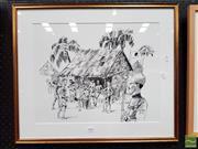 Sale 8483 - Lot 2016 - Artist Unknown, POW, ink drawing, 37x 46.5cm