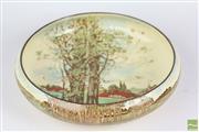 Sale 8521 - Lot 147 - A large Royal Doulton Float Bowl, cottage scene