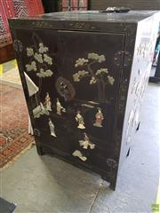 Sale 8585 - Lot 1730 - Chinese Style Cabinet (133 x 87 x 46cm)