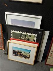 Sale 8592 - Lot 2068 - Group of (7) Assorted Contemporary Multimedia Prints by Various Artists, signed (3) (framed/various sizes).