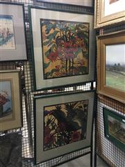 Sale 8751 - Lot 2041 - Pair of Margaret Preston Decorative Prints from the Australian National Gallery, each 64.5 x 64.5cm (frame size)