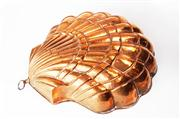 Sale 8828B - Lot 72 - A large vintage French shell shaped copper cake mold. 32 cm