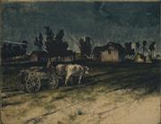 Sale 8914 - Lot 2036 - Artist Unknown Farm Scene colour etching (AF) 29.5 x 39cm, signed -