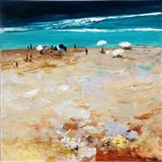 Sale 9001 - Lot 514 - Cheryl Cusick - Beach Gathering 101.5 x 101.5 cm (total: 101.5 x 101.5 x 4 cm)