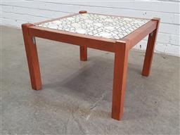 Sale 9129 - Lot 1082 - Tile top side table (h:39 x w:57 x d:57cm)