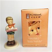 Sale 8456B - Lot 43 - Hummel Figure of a Boy Reading (Original Box)