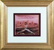 Sale 8550H - Lot 77 - Sidney Nolan - Figure in Landscape, Asia, 1967