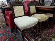 Sale 8580 - Lot 1043 - Pair of Victorian Chairs