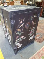 Sale 8585 - Lot 1731 - Chinese Style Cabinet (133 x 87 x 46cm)