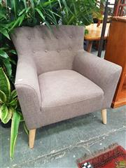 Sale 8601 - Lot 1324 - Button Back Fabric Armchair