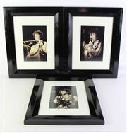 Sale 8940 - Lot 81 - Jimi Hendrix Limited Edition Series Of Three Framed Photographs 53cm x 43cm