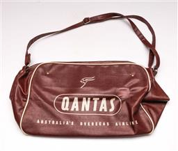 Sale 9131 - Lot 45 - A retro Qantas bag