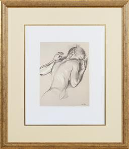 Sale 9155H - Lot 83 - After Van Hove,  sleeping lady, print image size 32x24cm in a gilt frame