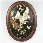 Sale 8342 - Lot 85 - Mother of Pearl Panel of an Eagle