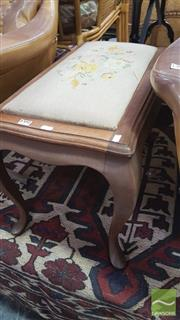 Sale 8390 - Lot 1591 - Footstool w Tapestry Seat