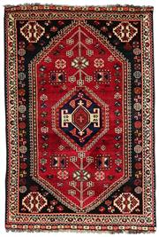 Sale 8536A - Lot 57 - A Qashgai Southern Persian Wool Carpet Iran 151cm x 101cm RRP $1,350.00