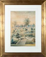 Sale 8550H - Lot 39 - W Tibbits - House in Sydney, c1889 62.5 x 44cm