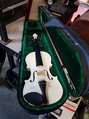 Sale 8582 - Lot 2277 - White Violin in Case
