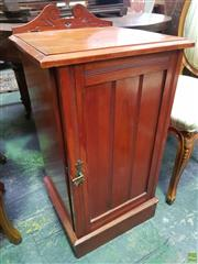 Sale 8648C - Lot 1097 - Late Victorian Pine Bedside Cabinet, with single door & plinth base