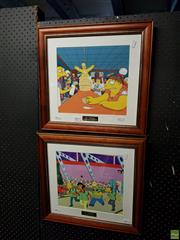 Sale 8619 - Lot 2049 - Pair of the Simpsons Collection Edition Prints 41 x 43cm