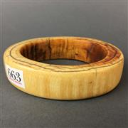 Sale 8638 - Lot 663 - Antique Oversized Ivory Bangle