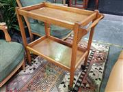 Sale 8672 - Lot 1014 - Timber Two Tier Serving Trolley