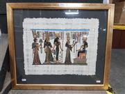 Sale 8762 - Lot 2098 - Ancient Egyptian Style Hieroglyphic Artwork, 51 x 59cm.