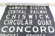 Sale 8818 - Lot 4 - Vintage Bus Scroll (146cm x 86cm), (Some Losses)